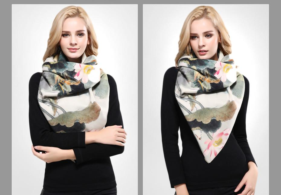 Luxury Shawls and Scarves for Women Wool Cashmere Scarf Woman Thicken Warm Wrap Printing Soft Winter Scarf-SCARVES-SheSimplyShops