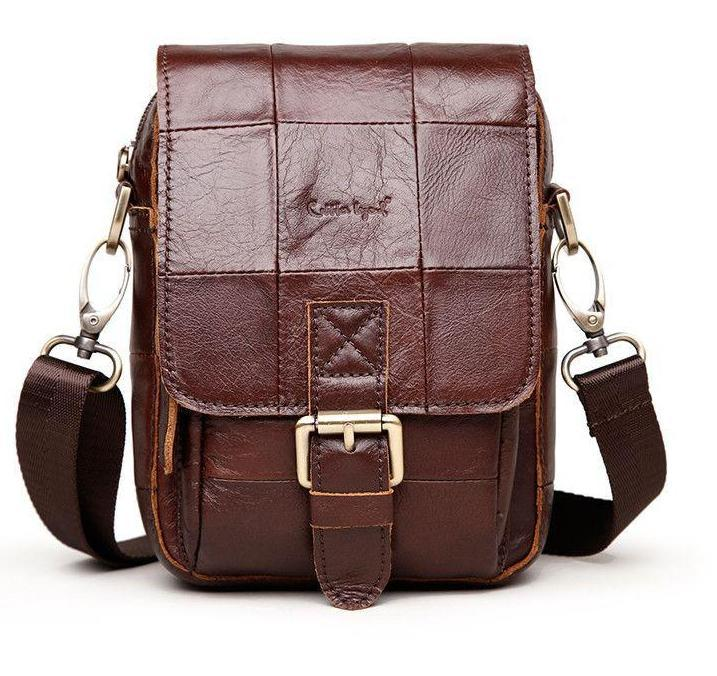 Men's Vintage Genuine Leather Messenger Bag-BAGS-SheSimplyShops