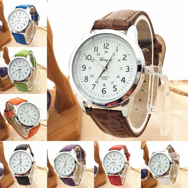 Quartz-Watch Women Casual Sport Wristwatch Women's Clocks Relogio Feminino Men Leather Strap Roman Numerals Dial Watch-ACTIVEWEAR-SheSimplyShops