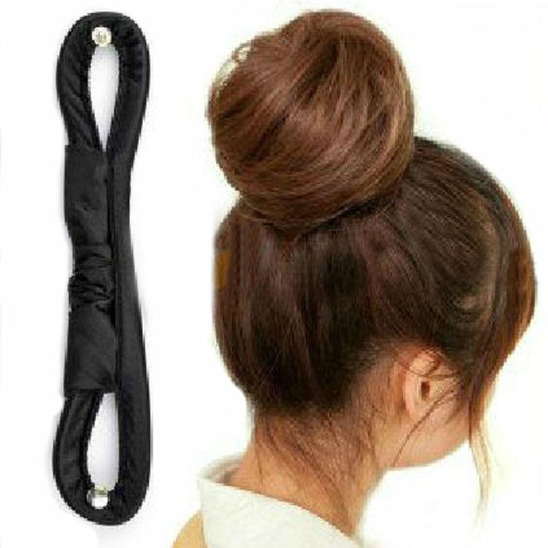 16CM New Fashion DIY Hair Styling Tools Bun Roller Black Barrette For Headwear Hair Accessories For Women Y6R1-ACCESSORIES-SheSimplyShops