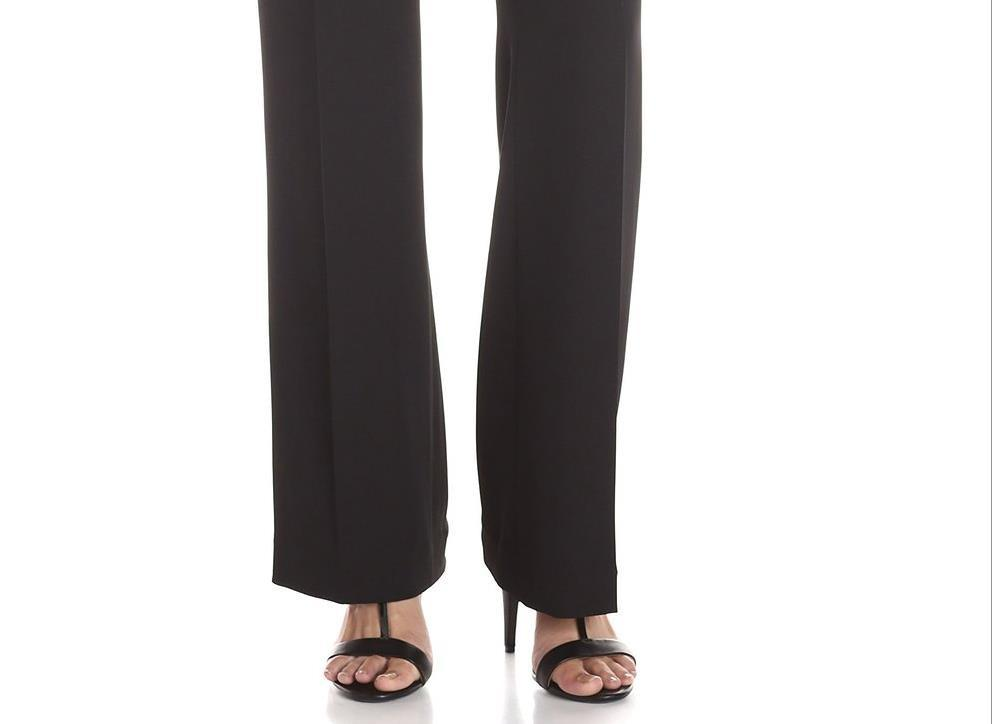 summer casual women pants Wide Leg Pleated pant solid office OL-PANTS-SheSimplyShops