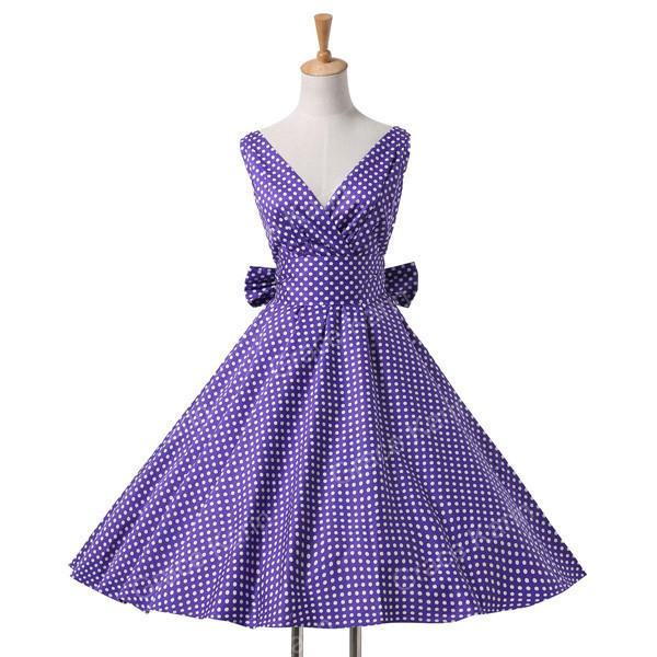 Womens summer dresses summer plus size Maggie Tang 50s Vintage Retro robe vestidos Pin up Swing Polka Dot Rockabilly Dress-Dress-SheSimplyShops