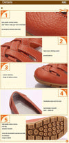 Genuine Leather Flat Sandals-SLIPS-SheSimplyShops