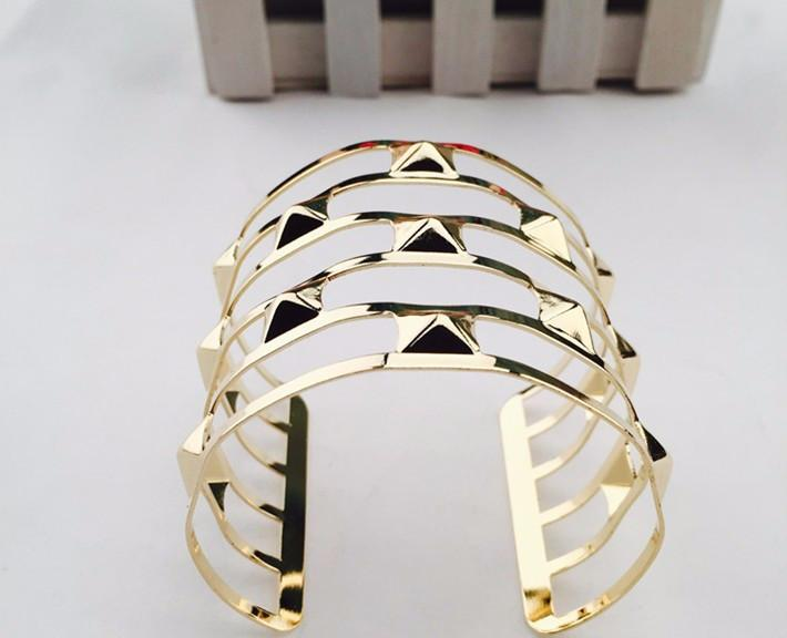 Women Unisex Charm Bracelets Fashion Vintage Bracelets Simple Geometric Style Pop Punk Metal Bracelet Gold Bangles 12 Kinds-BRACELETS-SheSimplyShops