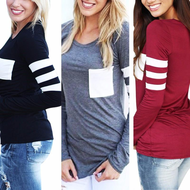 Girl Workout Jogging T-Shirt Fitted Long Sleeve Tops 3 Color-SHIRTS-SheSimplyShops