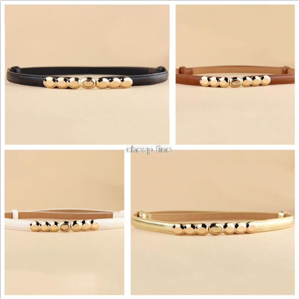 New Fashion Accessories Decorative gold tone Alloy Buckle Paint thin belt girdle belt female belts for women ladie's girl-BELTS-SheSimplyShops