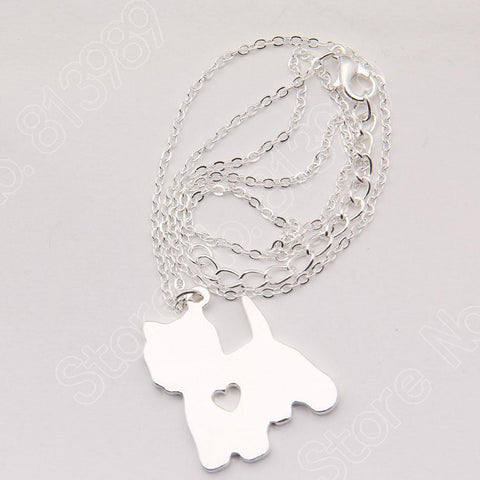 Yorkshire Terrier Puppy Heart Necklaces