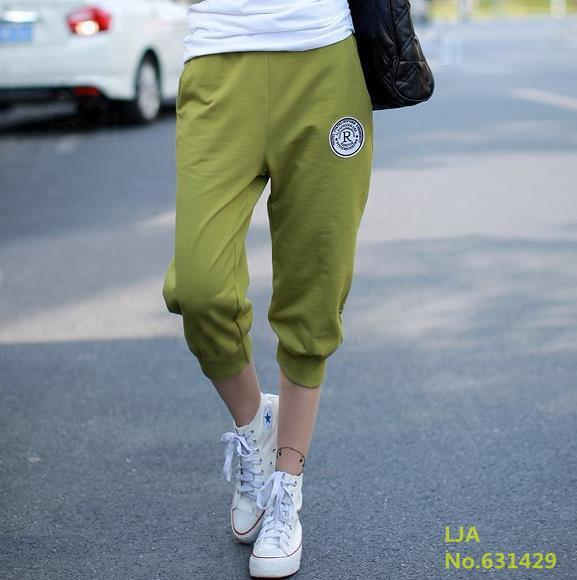 New Summer Women Casual Harem Pants Female Sports Women's Skinny Sport Pants Long Seven Short Capris Trousers-ACTIVEWEAR-SheSimplyShops