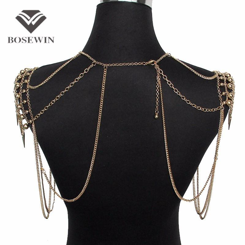 Punk Type Women Sexy Body Jewelry Multi Layers Nail Pendant Tassel Body Chains Necklaces Vintage Accessories Collier-NECKLACES-SheSimplyShops