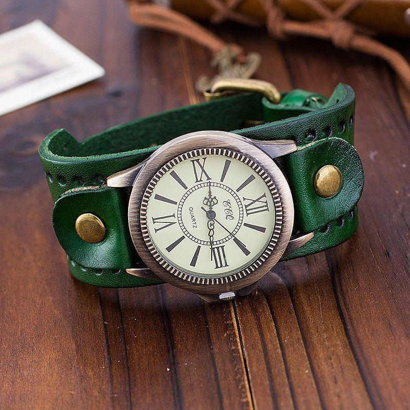 CCQ Brand Vintage Cow Leather Bracelet Women WristWatch Casual Luxury Quartz Watch Relogio Feminino 1391-BRACELETS-SheSimplyShops