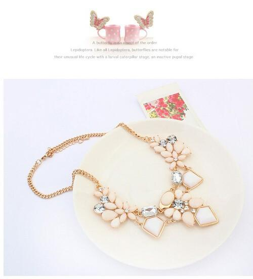 New Arrival Resin Fashion Colorful Cute Charm Gem Flower Necklaces & Pendants Fashion Jewelry Woman Gift Summer style-NECKLACES-SheSimplyShops