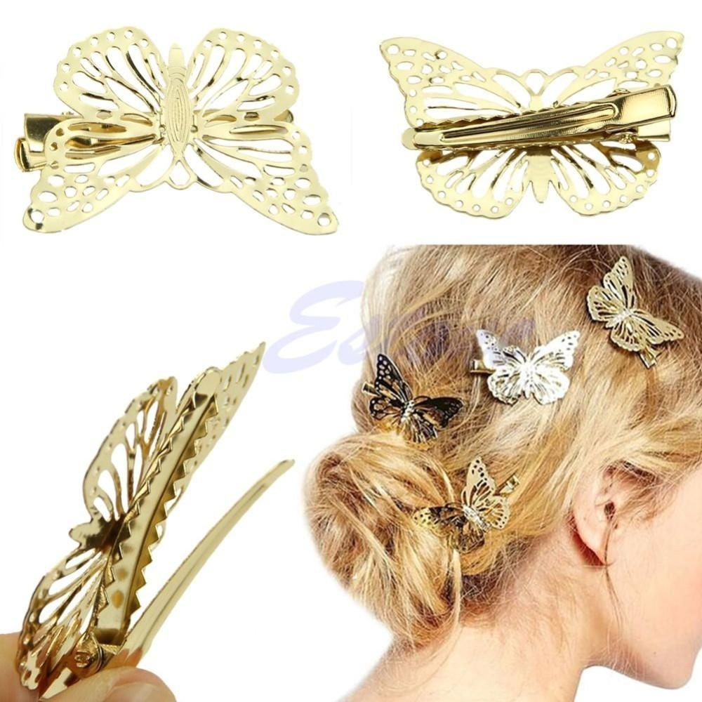 Free shipping Hot Women Shiny Golden Butterfly Hair Clip Headband Hairpin Accessory Headpiece-ACCESSORIES-SheSimplyShops