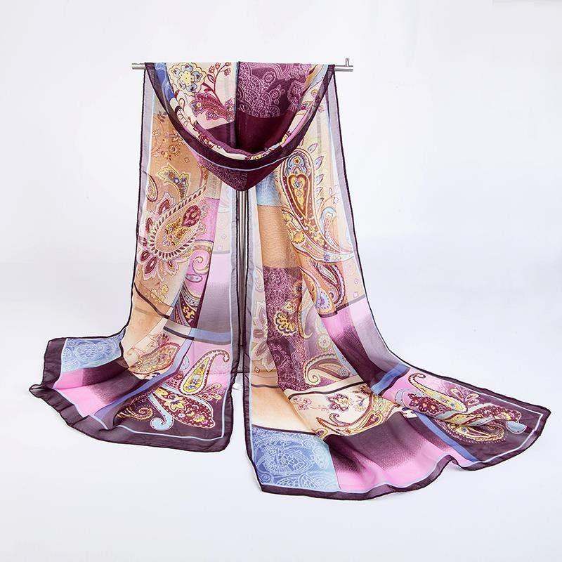 Autumn and Winter fashion casual women scarf cashew echarpe long chiffon silk scarf women's apparel & accesories-SCARVES-SheSimplyShops