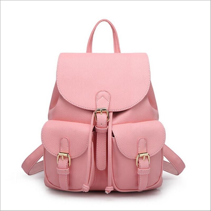 Leather Backpacks Schoolbag-BAGS-SheSimplyShops