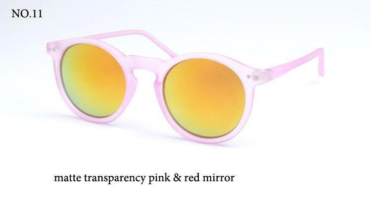 BOUTIQUE Fashion multicolour mercury Mirror glasses men sunglasses women male female coating sunglass gold round OCUL-Coats & Jackets-SheSimplyShops