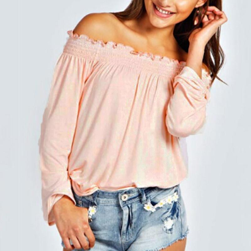 Womens Off Shoulder Tops-Tops-SheSimplyShops