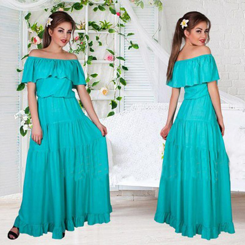 Women Autumn Style Dress Vintage Sexy Party Maxi Clothing Club Robe Dress-Dress-SheSimplyShops