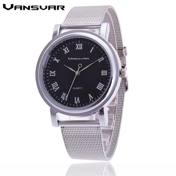 Vansvar Women Silver Watches Fashion Geneva Watches Ladies Casual Wrist Watch Quartz Watch-Dress-SheSimplyShops