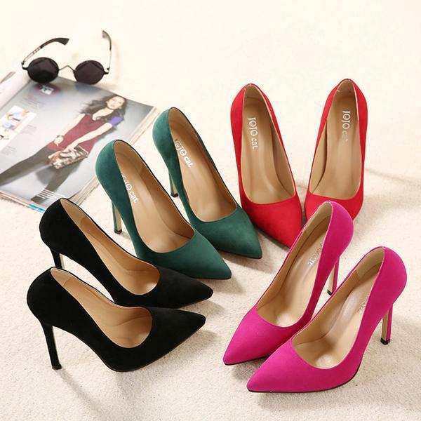 Plus size 43 Women Pumps 2015 High heels Pointed Toe Party Shoes Woman High Heel Women Shoes Heels-Dress-SheSimplyShops