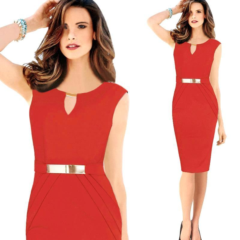 women casual dress bodycon party dress office pencil dress wear to work-Dress-SheSimplyShops