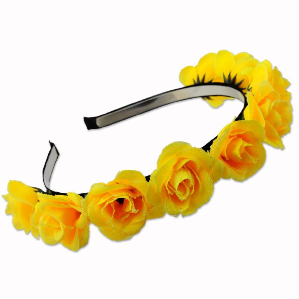 Handmade bride floral flower crown rose headband hair garland festival wedding hair accessories hairbands 2 Styles EQB934-ACCESSORIES-SheSimplyShops