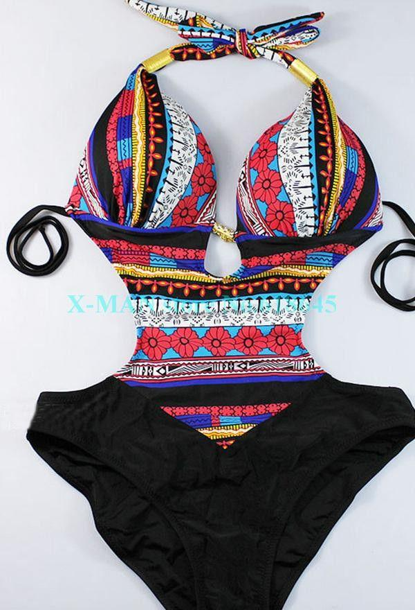Brand Sexy Bohemia Summer Bikinis Set one pieces beach Swimsuit Swimwear women plus size swim wear swimming L223-SWIMWEAR-SheSimplyShops