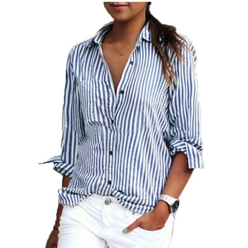 Casual Striped Shirt-SHIRTS-SheSimplyShops