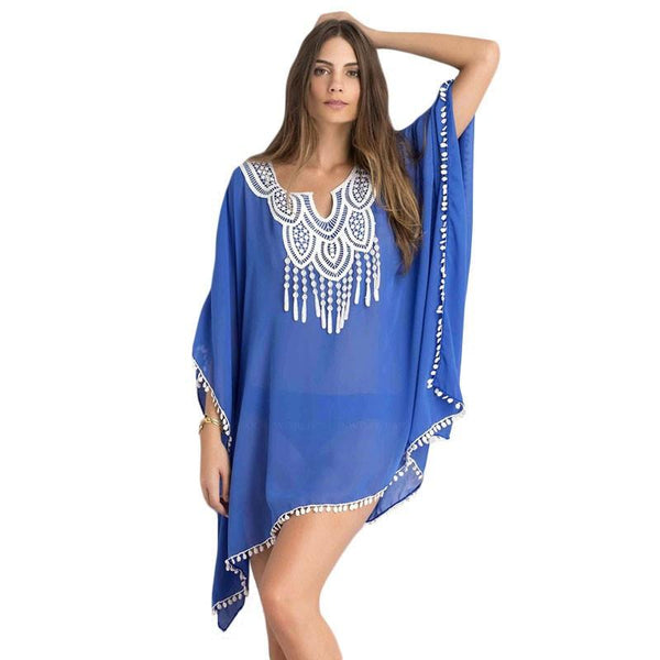 Sexy Women Sarong Blouses Bathing Suit Beach Cover ups Bikinis Swimsuit Cover Up Beach Tunic Dress Lace-SWIMWEAR-SheSimplyShops