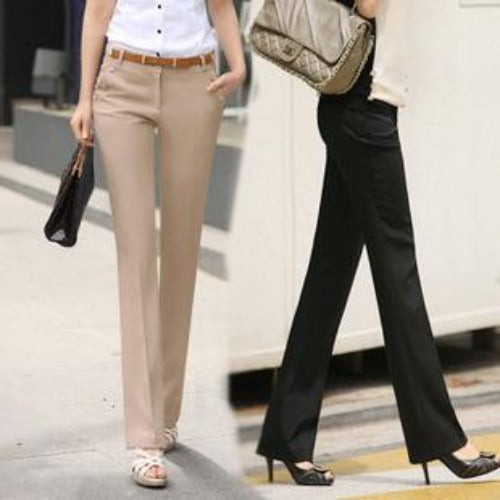 Plus Size Trousers Women Pants 2015 Spring Summer Casual OL Formal Harem Pants Women Office Dress Pants Flare Trousers KZ2-Dress-SheSimplyShops