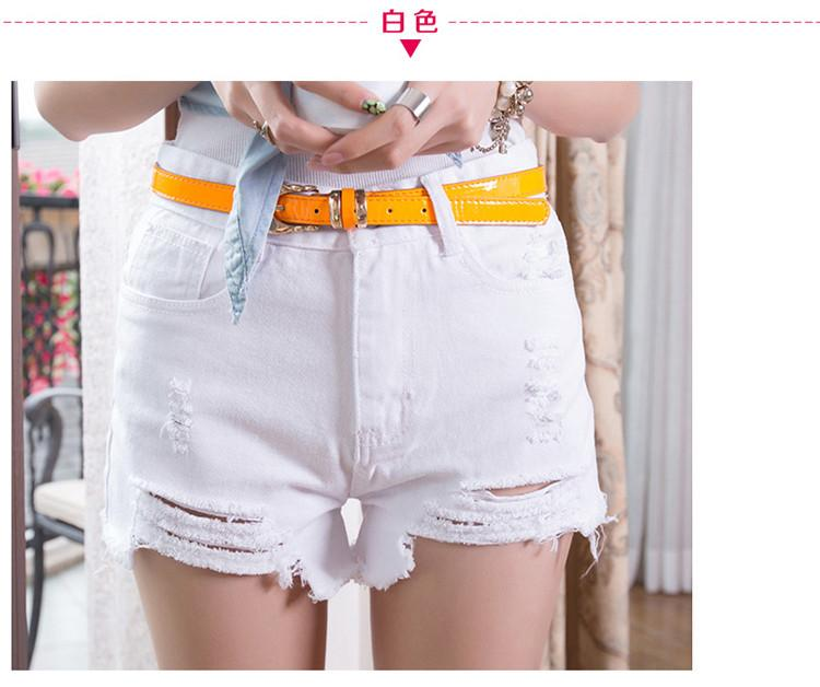 New Summer Style Hole Punk Rock Fashion High Waisted Denim Shorts Vintage Ripped Short Jeans Sexy Womens Short Femme-JEANS-SheSimplyShops