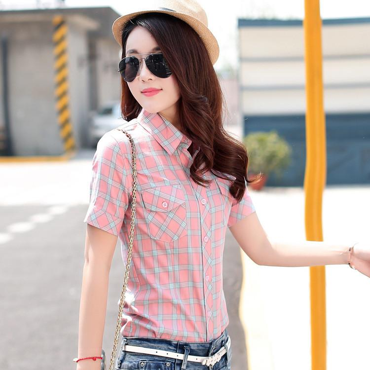 Women summer shirt casual cotton girl summer clothing-SHIRTS-SheSimplyShops