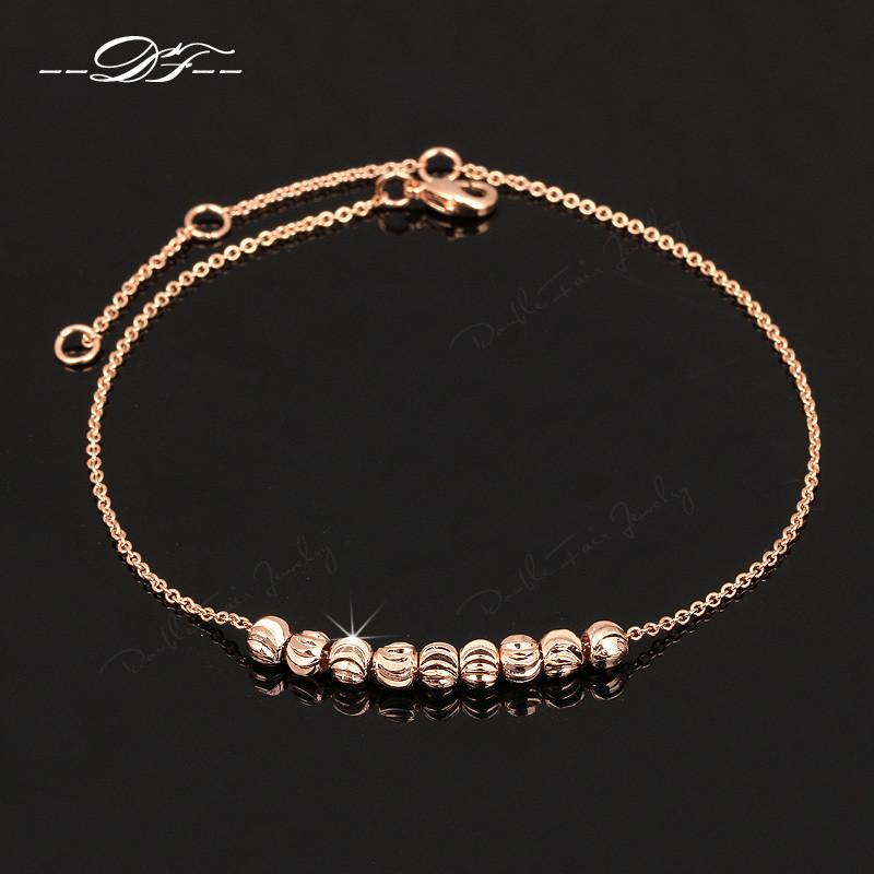 Simple Style Metal Beads Anklets Chain 18K Rose Gold/Silver Plated Fashion Vintage Jewellery/Jewelry For Women-JEWELRY-SheSimplyShops