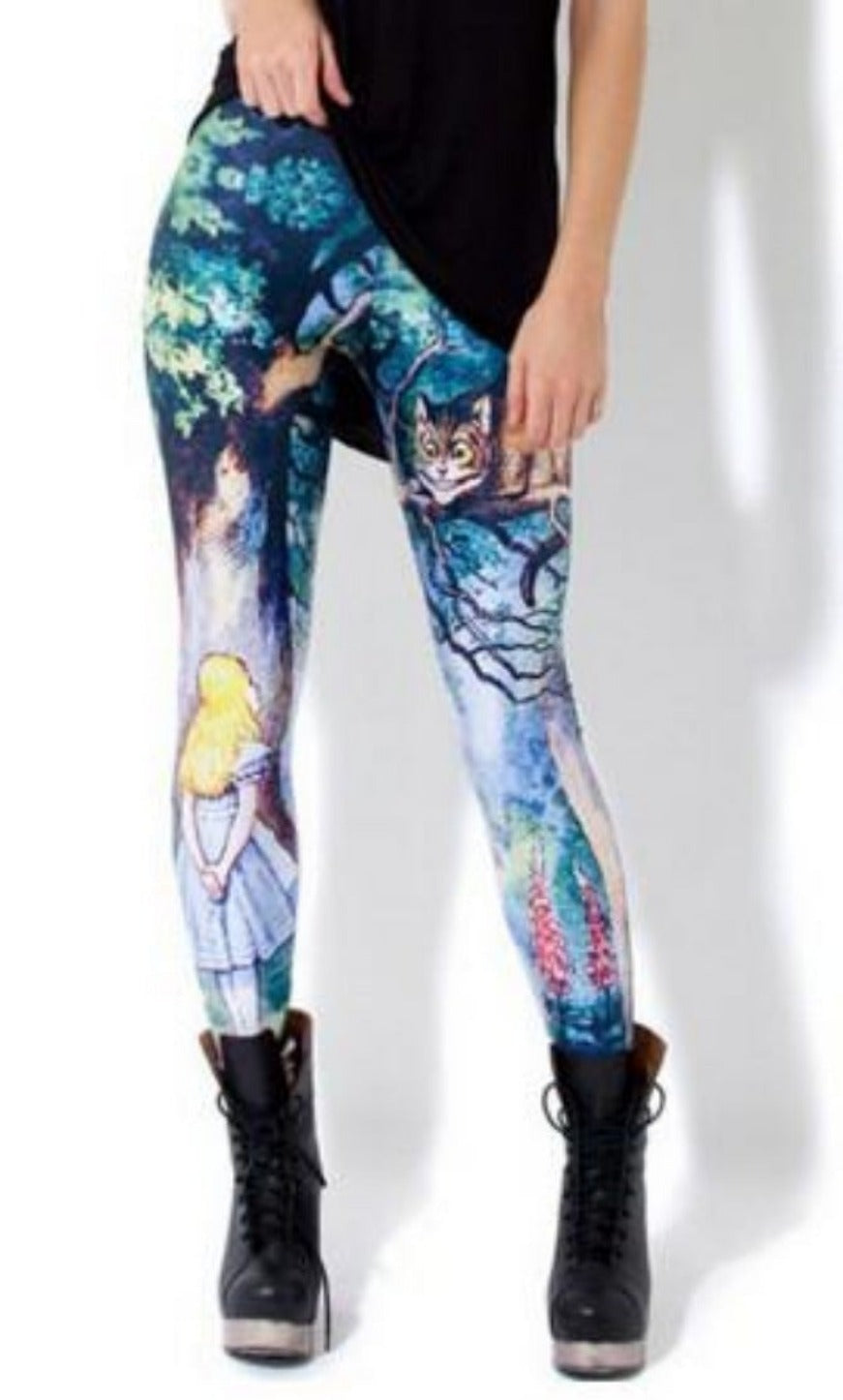 New space the Corpse Bride Printed fitness leggings women brand clothing punk rock pants-PANTS-SheSimplyShops