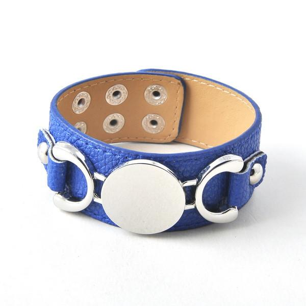 Stylish Monogram Leather Cuff Bracelet-BRACELETS-SheSimplyShops