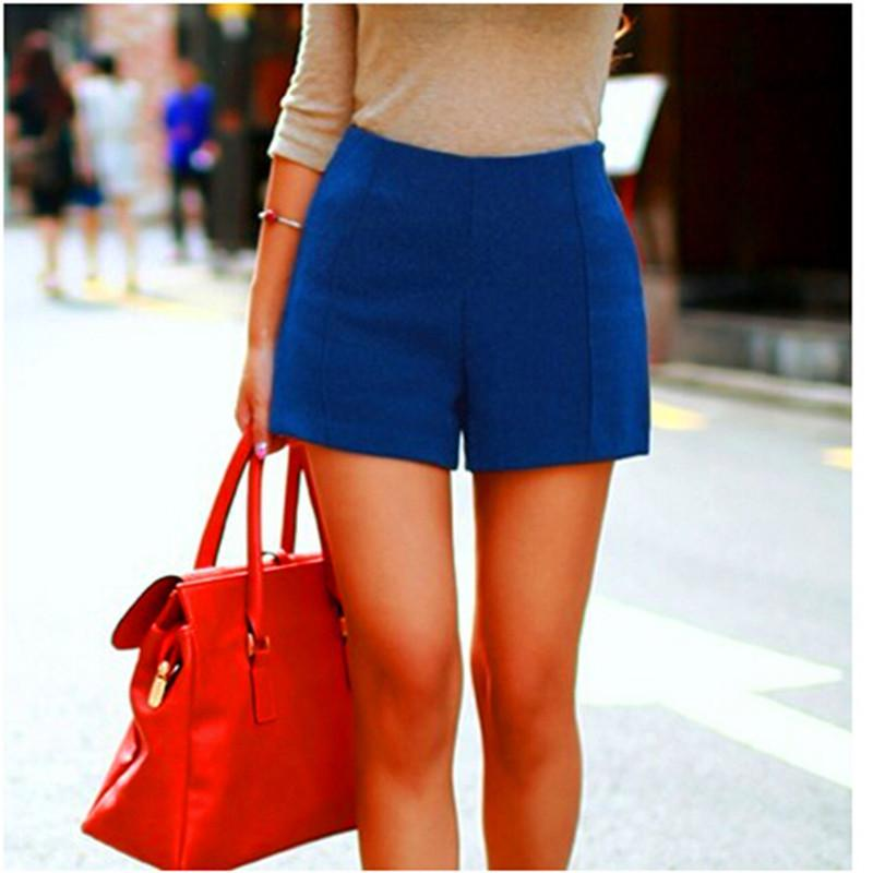 Casual High-Waist Wool Shorts-PANTS-SheSimplyShops