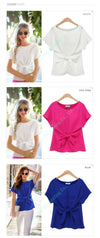 Casual Bowknot Chiffon blouses-Blouse-SheSimplyShops
