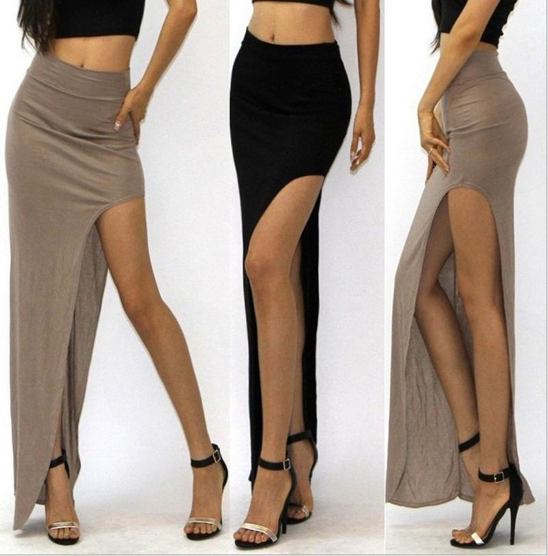 Open Side Split Long Skirt-Dress-SheSimplyShops