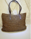 Hot fashion Simple hollow beach bags women straw bag vintage knitted big tote bags shoulder bags-BAG-SheSimplyShops