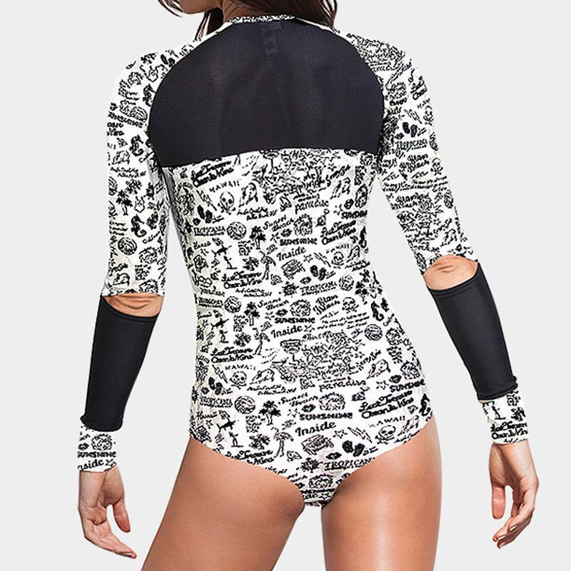 swimsuit women one piece swimsuit long sleeve biquini swimwear women sexy one piece swimwear one piece bathing suits for women-Tops-SheSimplyShops