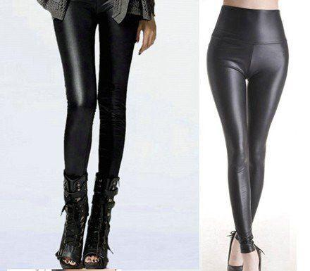 Black women leggings faux leather high quality slim leggings plus size High elasticity sexy pants leggins-PANTS-SheSimplyShops