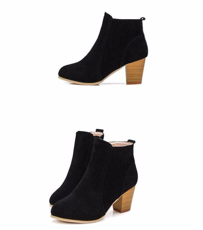 Short Cylinder High Heel Boots-BOOTS-SheSimplyShops