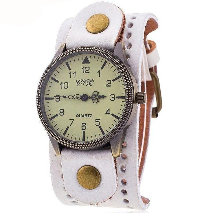 CCQ Brand Vintage Cow Leather Bracelet Watch Casual Women WristWatch Luxury Quartz Watch Relogio Feminino 1772-BRACELETS-SheSimplyShops