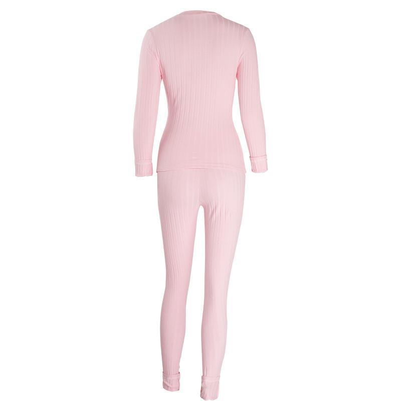 Sexy Deep V Neck 2 pieces Bodycon Jumpsuit 2016 Autumn Winter Rompers Jumpsuit Knitting pink Bodysuits Long bandage Jumpsuits-ROMPERS & JUMPSUITS-SheSimplyShops