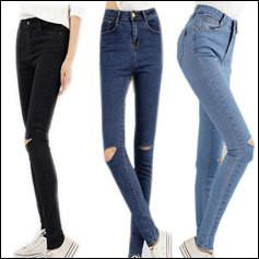 Vintage Hole Ripped Jeans Woman Plus Size Elasticity High Waist Skinny Jeans Women Pencil Denim Pants Jeans-JEANS-SheSimplyShops