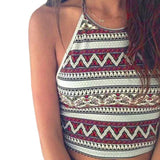 Women Crop Tops Summer Beachwear Bikini Bra Strap Tank Vest Tops High-Neck Halter-Tops-SheSimplyShops