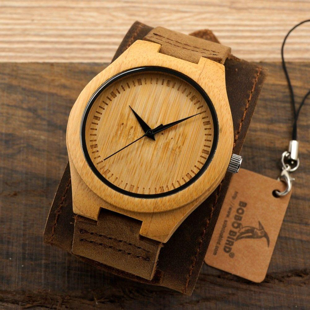 Stylish Natural Bamboo Quartz Watch-WATCHES-SheSimplyShops