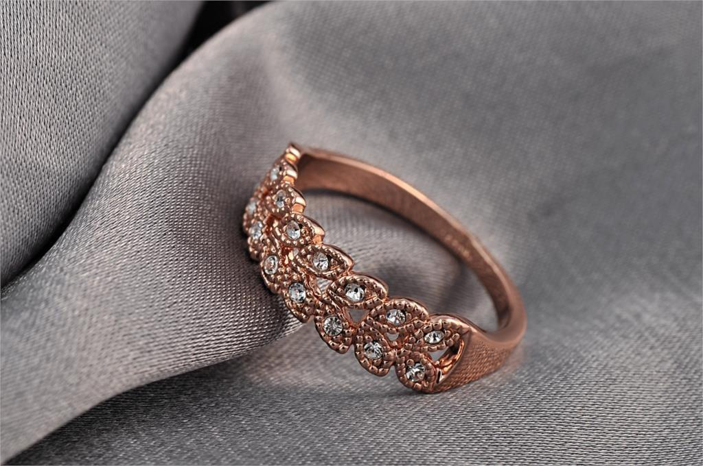 Rose Gold Plated Austrian Engagement Ring-SheSimplyShops