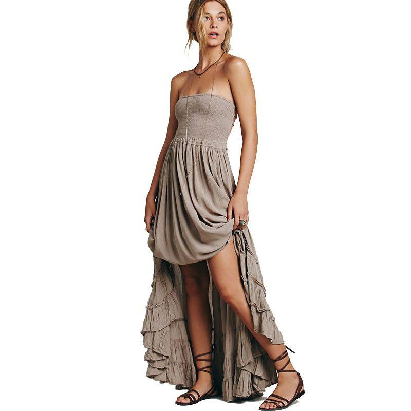 Beach dress sexy dresses boho bohemian people dress summer long blackless cotton women party hippie chic-Dress-SheSimplyShops