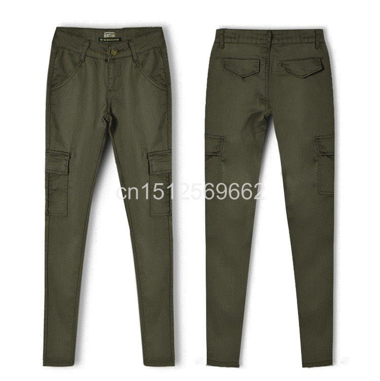 New Fashion High Quality Army Green Woman Sexy Low rise Jeans Ladies Skinny Jean Slim Femme plus size-JEANS-SheSimplyShops