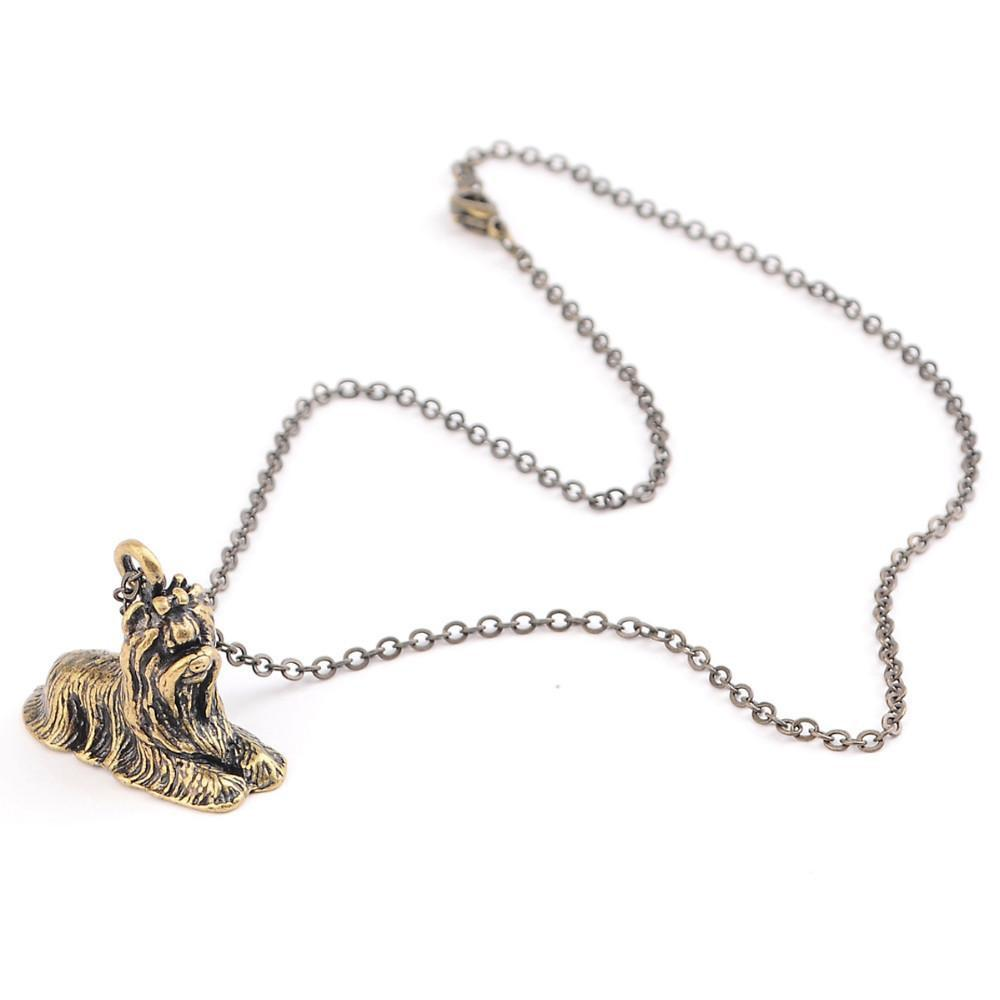 Vintage 3D Yorkshire Terrier Necklace-NECKLACES-SheSimplyShops